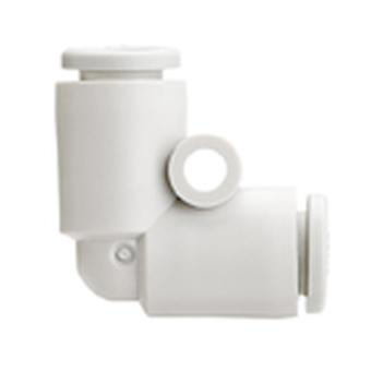 Smc Pneumatic Elbow Tube-To-Tube Adapter, Push In Connection A 8Mm, B 8Mm
