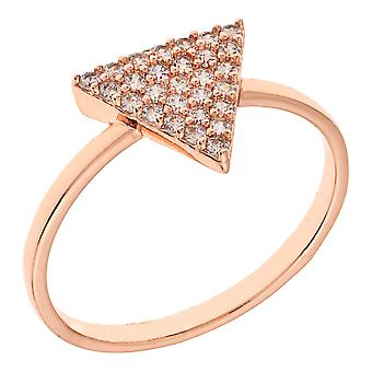 Elegant Confetti Venice Collection Women's 18k RG Plated Triangle Fashion Ring Size 6
