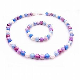 Girls Return Gift Multicolor Beads Necklace Stretchable Bracelet