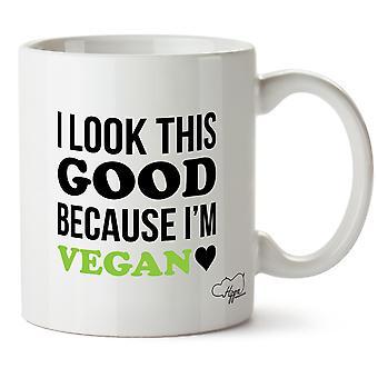 Hippowarehouse I Look This Good Because I'm Vegan Printed Mug Cup Ceramic 10oz