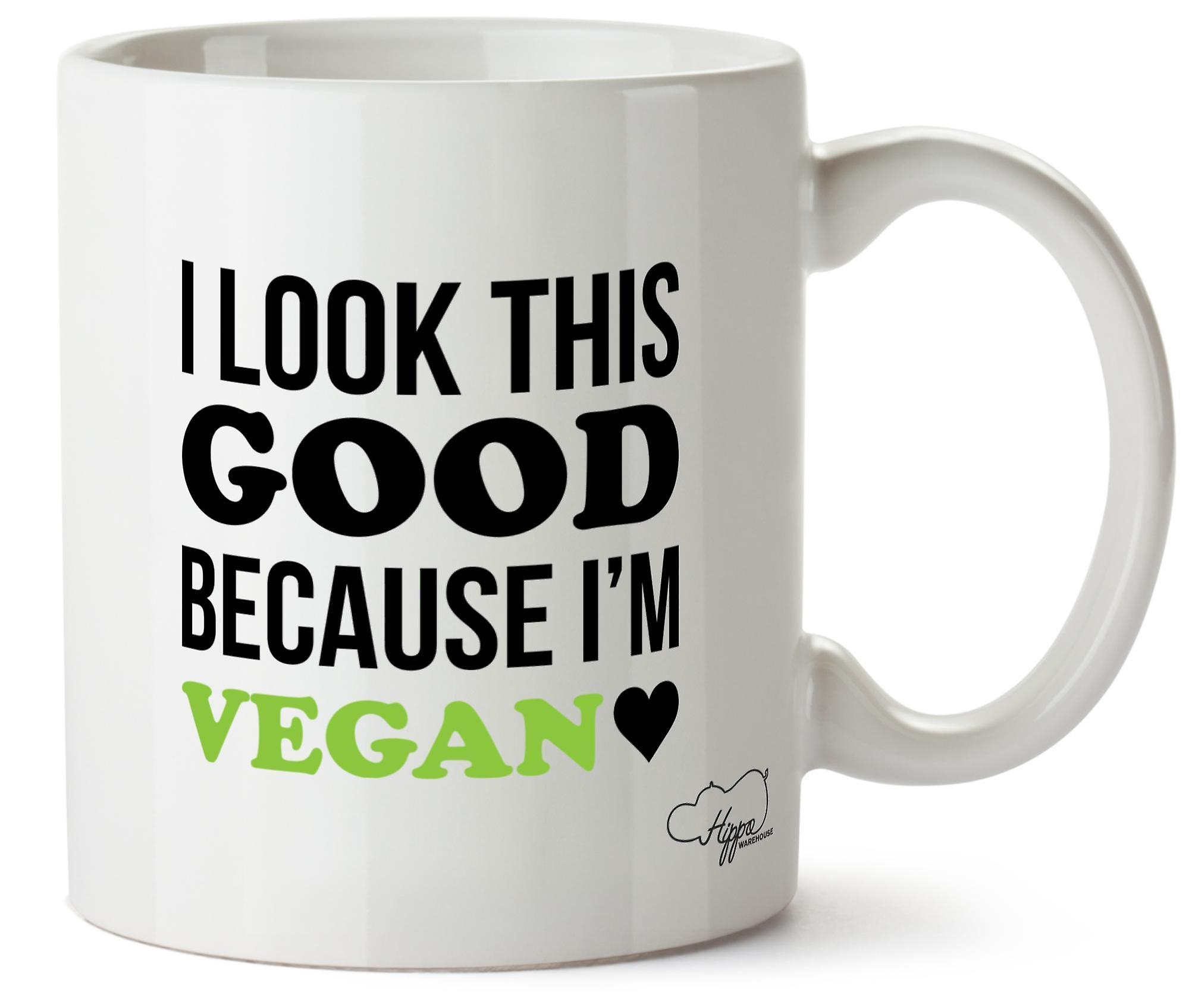 Mug Cette Regarder Tasse En 10oz Bonne Imprimé Hippowarehouse Parce Végétalienne Que Céramique Je Suis J'ai m8vnw0N