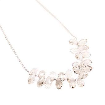 PEARLS FOR GIRLS chain elegant ladies stainless steel necklace with crystals silver
