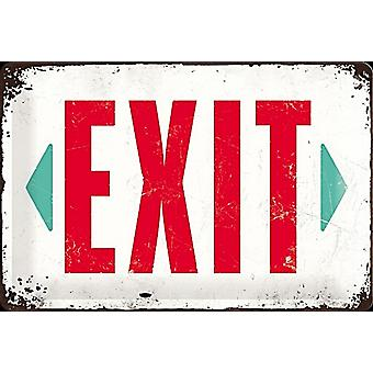 Exit embossed steel sign   (na 3020)