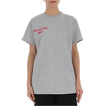 Semi-couture Margherita Grey Cotton T-shirt