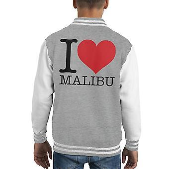 I Love Malibu Kid's Varsity Jacket
