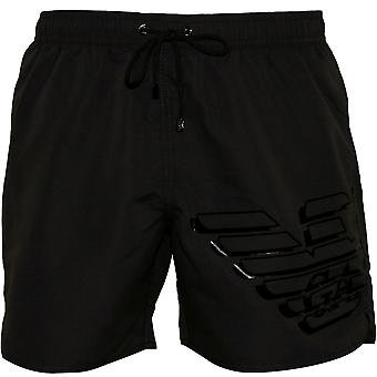 Emporio Armani Large Eagle Logo Swim Shorts, Anthrazit Grau
