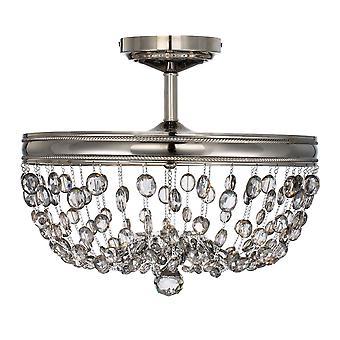Malia Three Light Semi-Flush  - Elstead Lighting