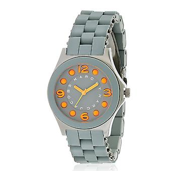 Marc by Marc Jacobs Pelly Silicone Gunmetal Ion Ladies Watch MBM2589