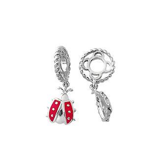 Storywheels Silver & Enamel Ladybug Dangle Charm S177