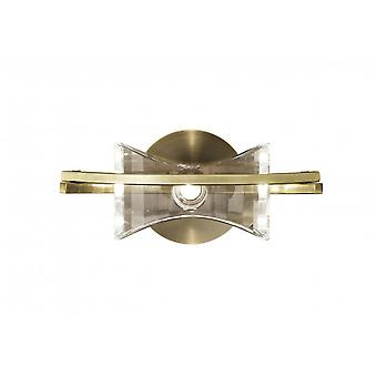 Mantra Kromo Wall Lamp Switched 1 Light G9, Antique Brass