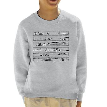Krazy Kat Ignatz Capers Kid's Sweatshirt