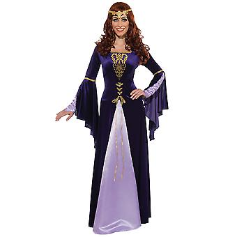 Guinevere Deluxe medieval Renaissance Game of Thrones traje das mulheres adultas