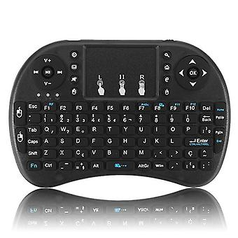 I8 portuguese version 2.4g wireless mini keyboard touchpad air mouse