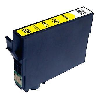Kompatibel bläckstråle patron gul ersättning för 702XL