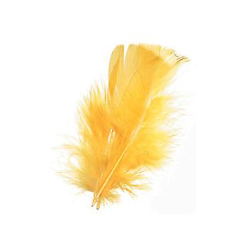 14g Yellow Feathers for Crafts | Scrapbooking Card Making Embellishments