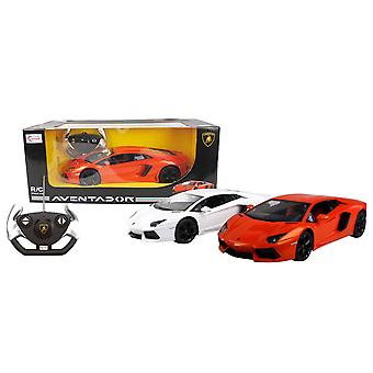 Charles Bentley Lamborghini Aventador 1 / 14 Scale Remote Control Car with Independent Suspension System in Orange Or White