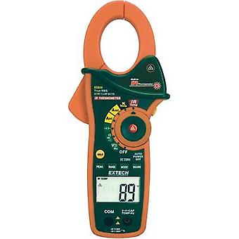 Current clamp, Handheld multimeter digital Extech EX830 IR thermometer CAT III 600 V Display (counts): 4000
