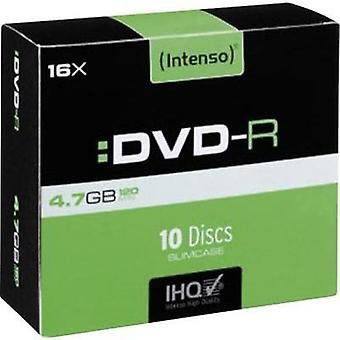 En blanco DVD-R 4.7 GB Intenso 4101652 10 c Slim PC