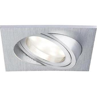 LED flush mount light 6.8 W Warm white Paulmann Coin 92800 Aluminium (brushed)