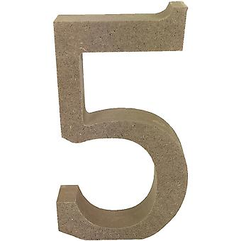Smooth MDF Blank Shape-Serif Number 5 TCMDF005