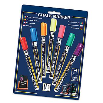 Chalkboards - Chalk Markers - Assorted Colours - 7 pack