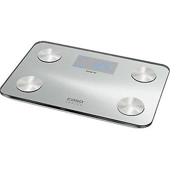 Smart bathroom scales CASO Weight range=150 kg Stainless steel