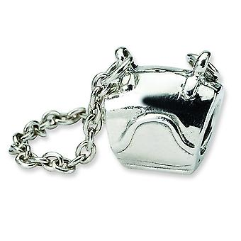 Sterling Silver Antique finish Reflections SimStars Handbag Bead Charm