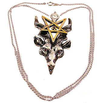 Two Tone `Bathomet` Pendant Necklace Baphomet