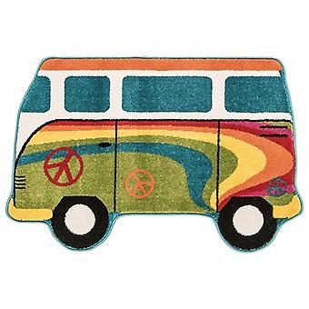 Kids farverige Camper Van soveværelse tæppe