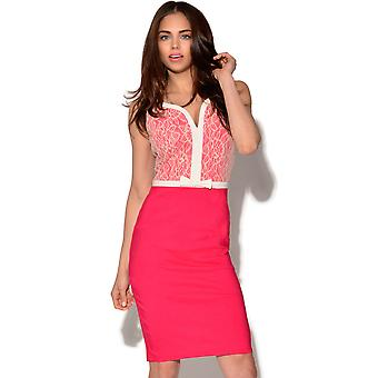Paper Dolls Pink and Cream Lace Dress