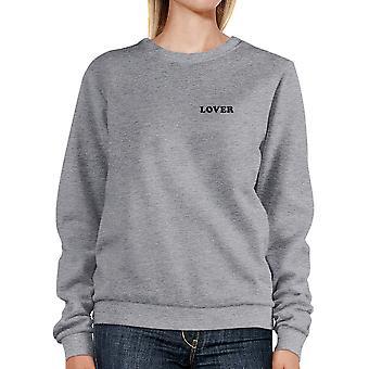 Elsker Unisex grå grafisk Sweatshirt gaveideer til Valentinsdag
