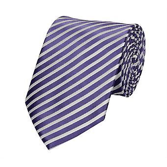 Tie striped purple white Fabio Farini