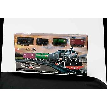 Clasic Express Musical Train Set With Tracks Train engine and 3 containers