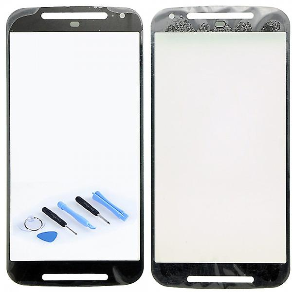 Display glass, glass black for Motorola Moto G2 XT1068