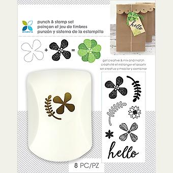 Momenta Punch & Stamp Set-Floral Hello 29554