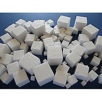 100 Assorted Small Polystyrene Cubes to Decorate - 10mm to 40mm