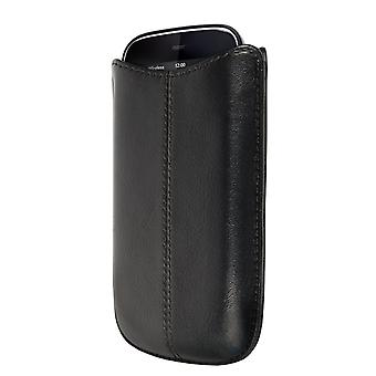 OEM Verizon Leather Sleeve Case for Palm Pixi Plus (Black) (Bulk Packaging)
