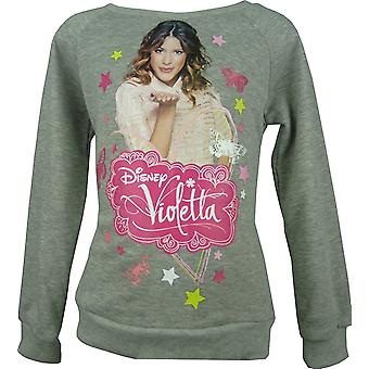 Girls Disney Violetta Crew Neck Sweatshirt
