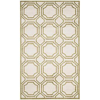 Elfenben & grønne geometriske tæpper - Safavieh