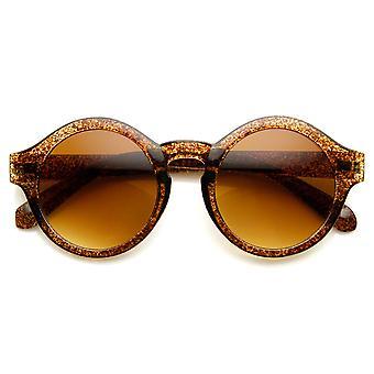 Retro vet Frame Keyhole brug P3 Frame ronde zonnebril