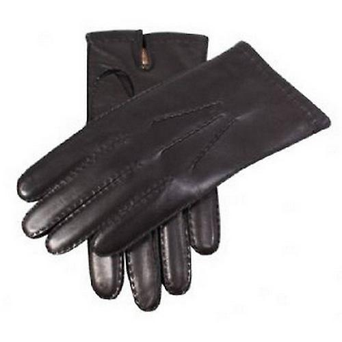 Dents Cashmere Lined Chelsea Leather Gloves - Black
