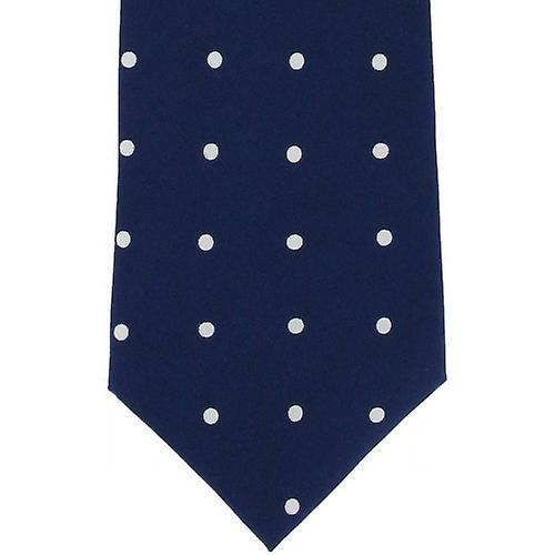 Michelsons of London Silk Polka Dot Tie - Purple