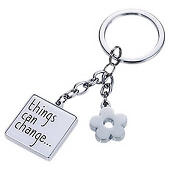 Troika Things Can Change Key Ring - White/Black