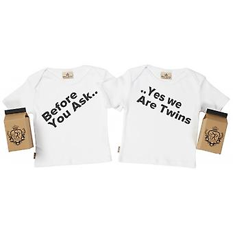 Spoilt Rotten Before Ask, Yes Twins Toddler T-Shirt