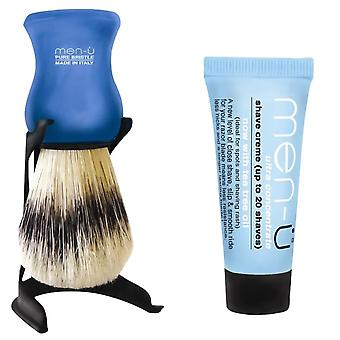 Men-U Barbiere Blue Shaving Brush & Stand