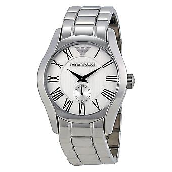 Emporio Armani AR0647 Stainless Steel White Dial Chronograph Watch