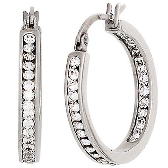 Hoop earrings earrings tyre stainless steel 42 crystal earrings silver glitter earrings