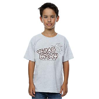 Marvel Boys Guardians of the Galaxy Star Lord Text T-Shirt