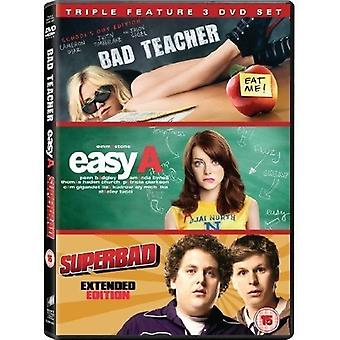 Triple Pack: Bad Teacher/Easy (A)/Superbad (3 DVD Set)