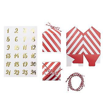 Make Your Own Christmas Advent Box Kit - Red & Gold